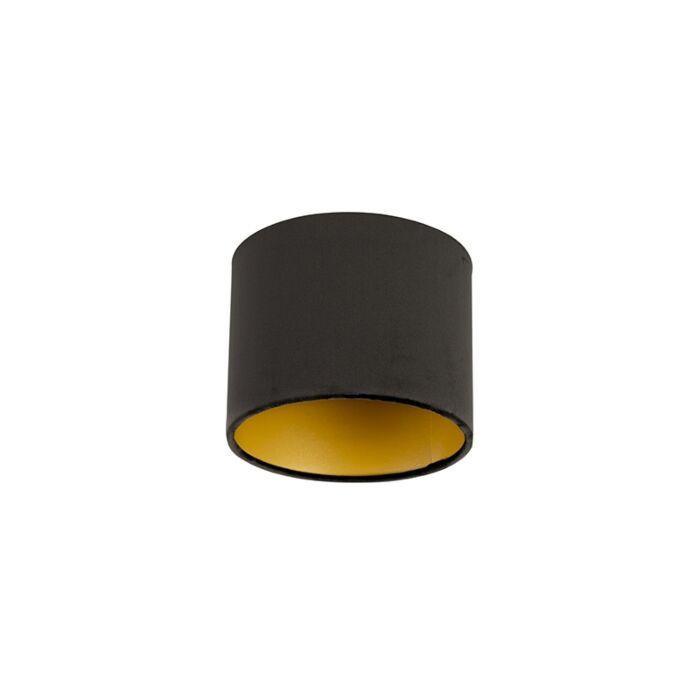 Pantalla-terciopelo-negro-18/18/14-interior-dorado