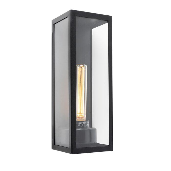 Aplique-moderno-rectangular-negro-vidrio-IP44---ROTTERDAM-LONG
