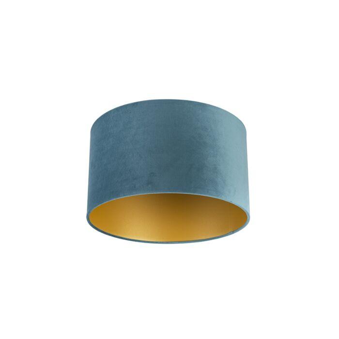 Pantalla-terciopelo-azul/oro-35/35/20