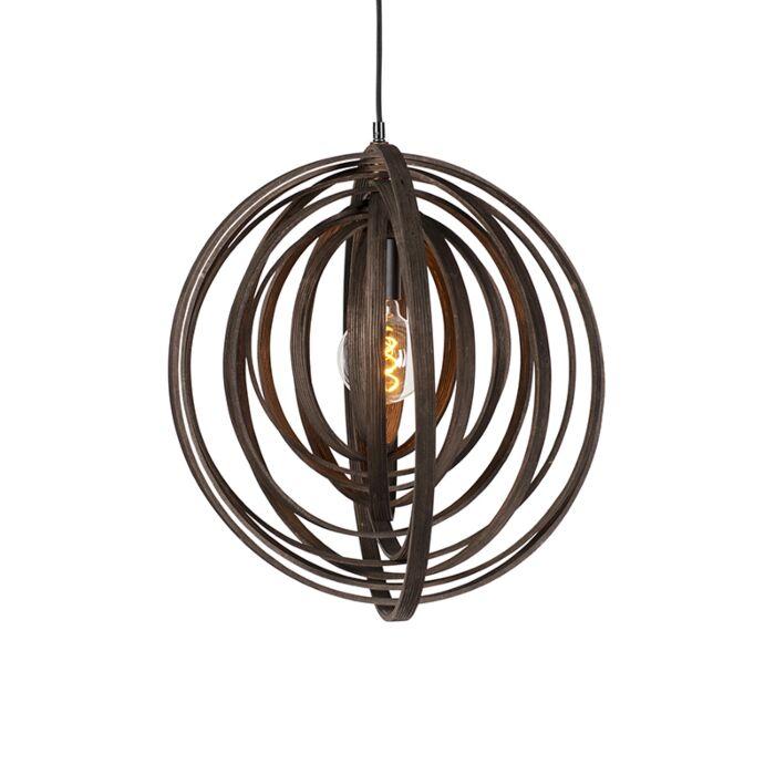Lámpara-colgante-diseño-redondo-madera-marrón--ARRANGE