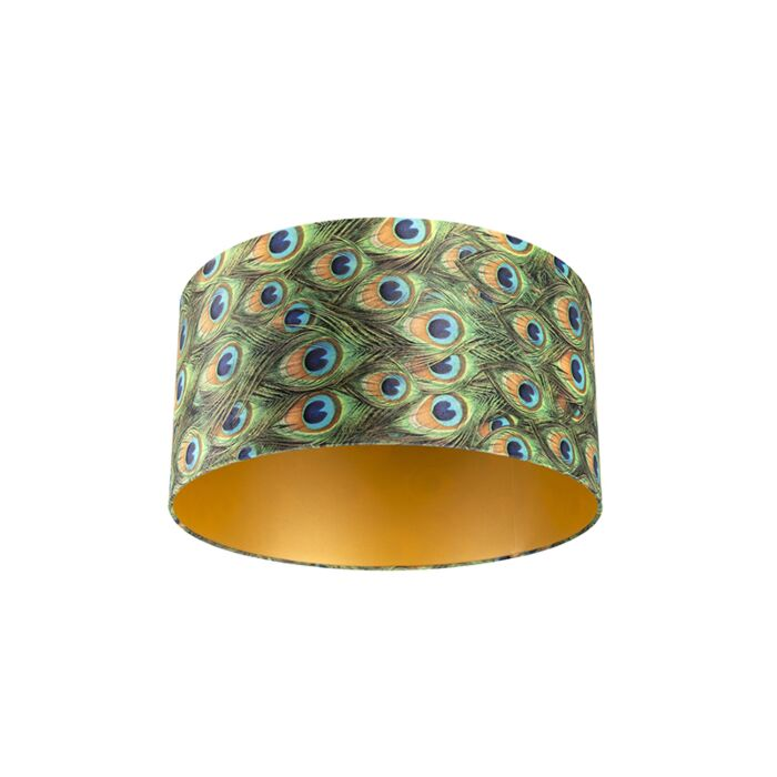 Pantalla-terciopelo-diseño-pavo-real/oro-50/50/25