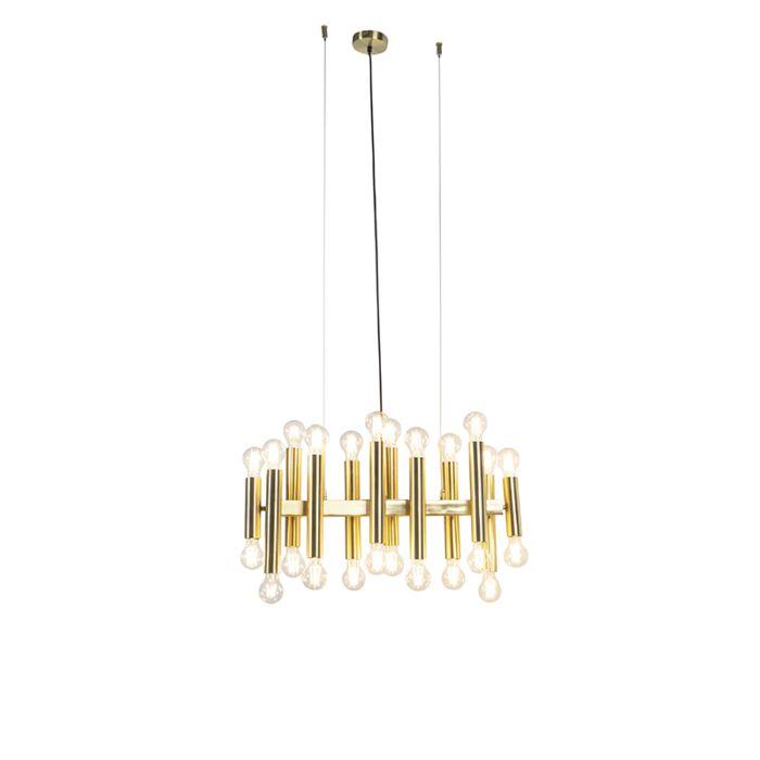 Lámpara-colgante-Art-Deco-oro-24-luces---FACIL