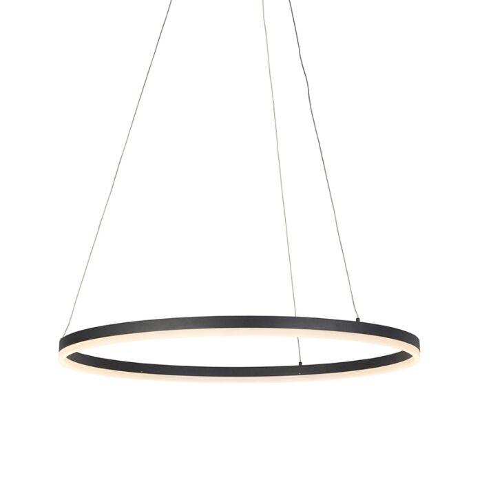 Lámpara-colgante-moderna-negra-80cm-LED-regulador---ANELLO