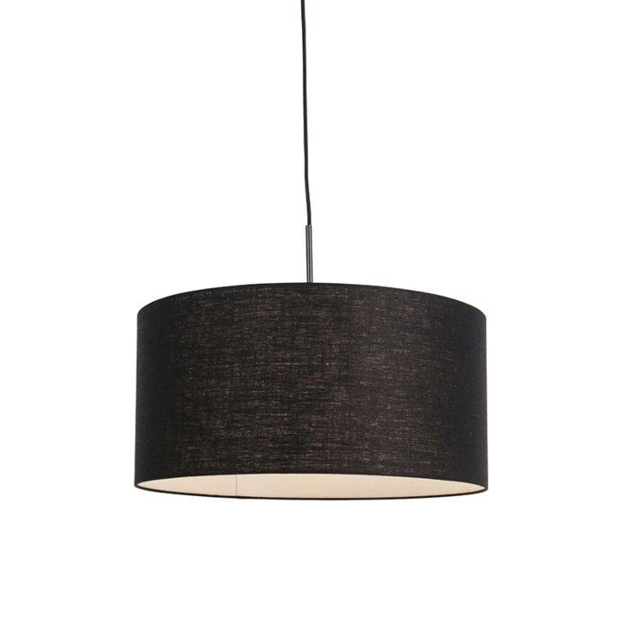 Lámpara-colgante-moderna-negra-pantalla-negra-50cm---COMBI-1