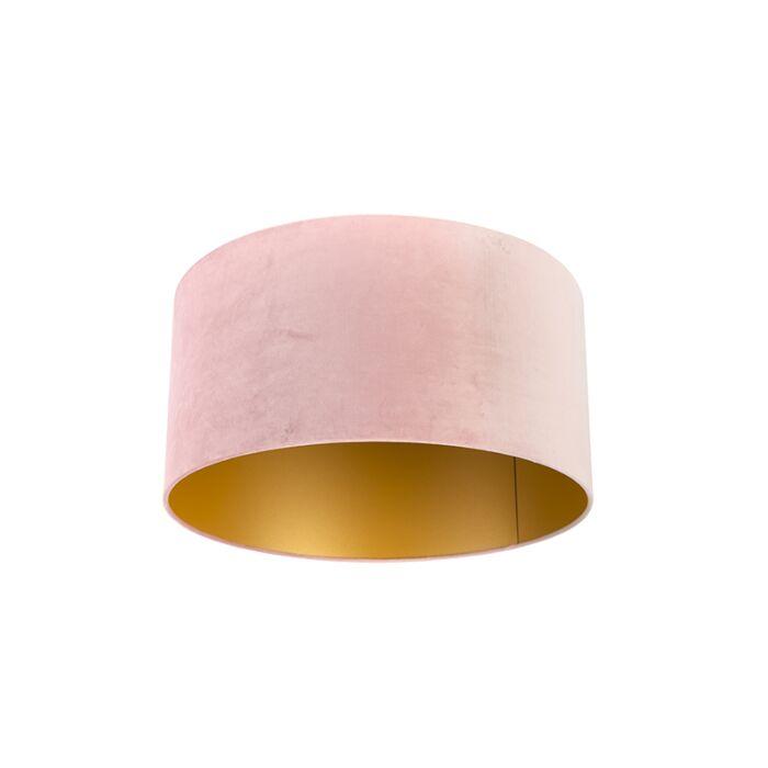 Pantalla-terciopelo-rosa/oro-50/50/25-