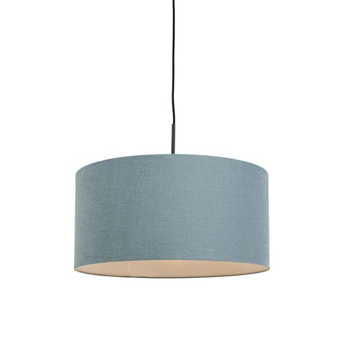 Lámpara-colgante-negra-pantalla-azul-50cm---COMBI-1