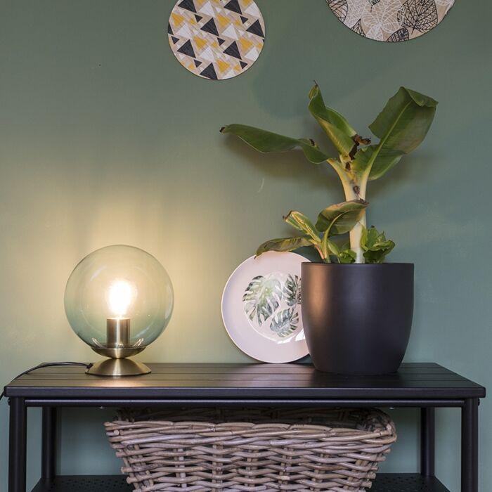 Lámpara-de-mesa-Art-Deco-latón-vidrio-azul---PALLON