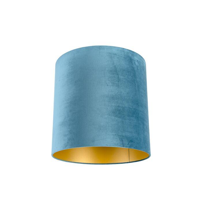 Pantalla-terciopelo-azul/oro-40/40/40