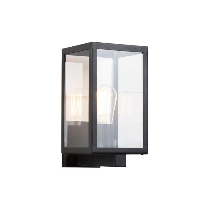 Aplique-moderno-rectangular-negro-vidrio-IP44--ROTTERDAM-