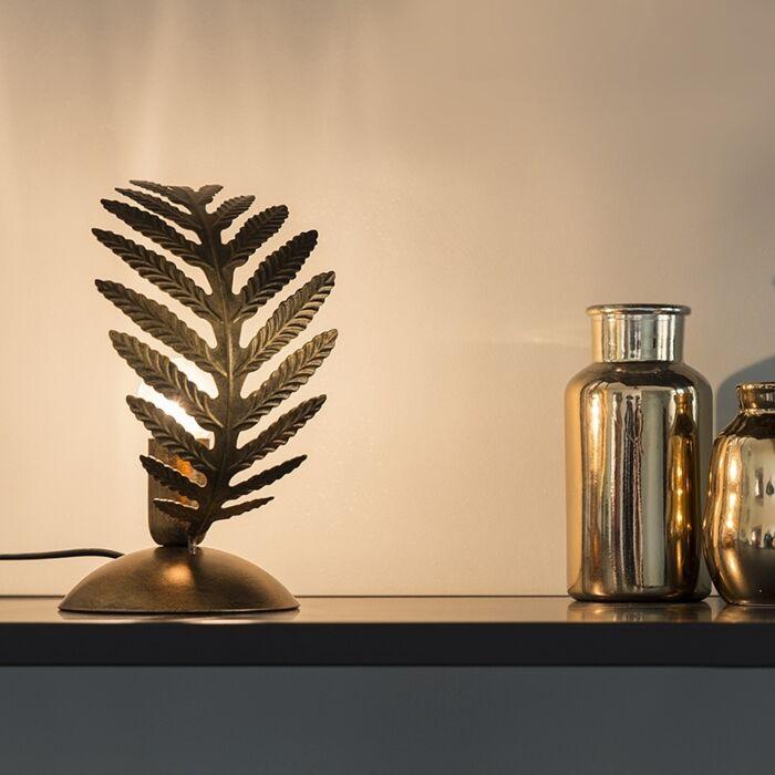 Lámpara-de-mesa-vintage-pequeña-oro---BOTANICA