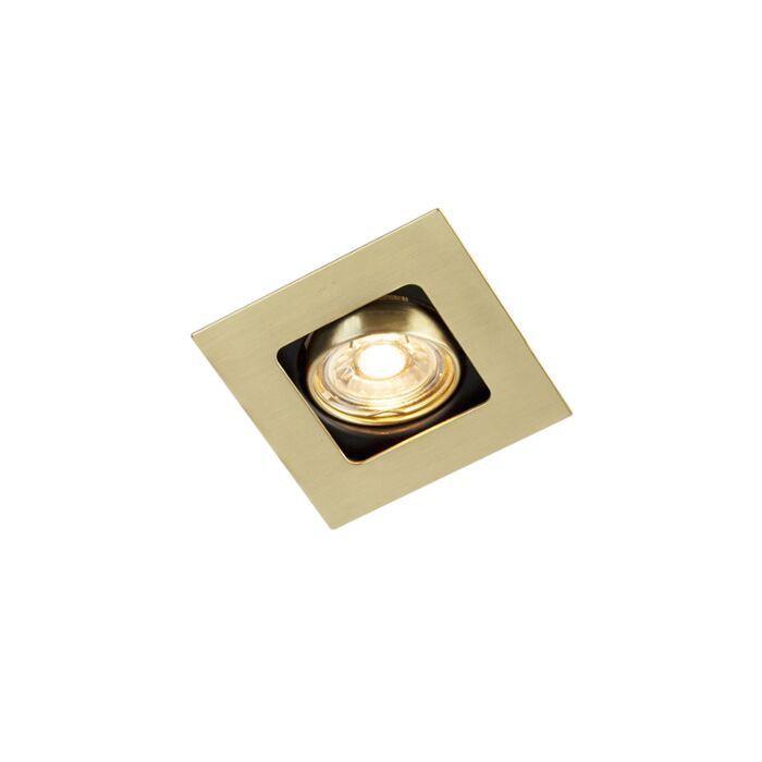 Foco-empotrado-cuadrado-oro/latón-orientable---ARTEMIS