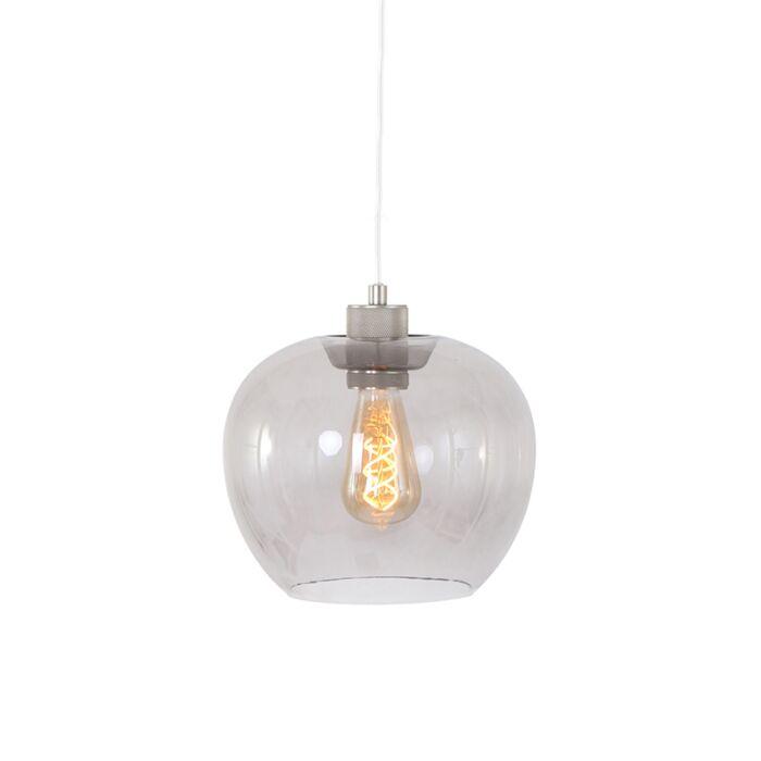 Lámpara-colgante-moderna-acero-con-cristal---LORI