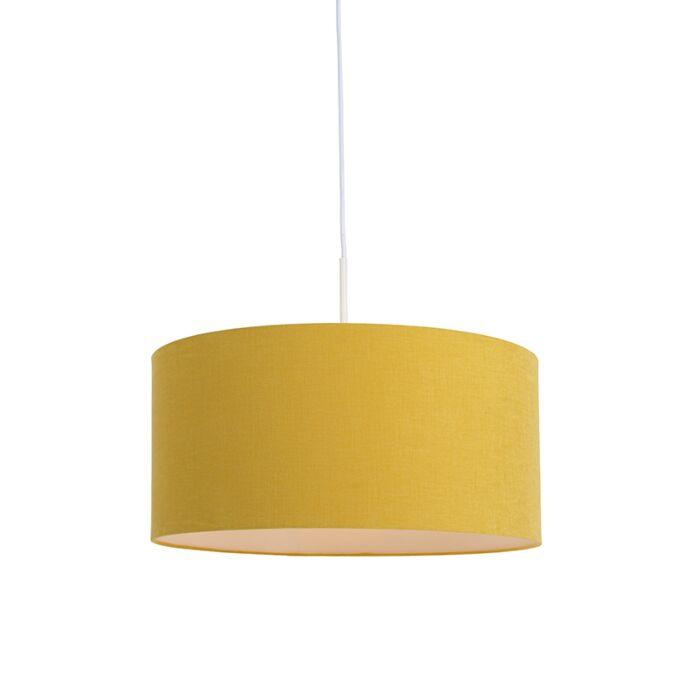 Lámpara-colgante-blanca-pantalla-amarilla-50cm---COMBI-1