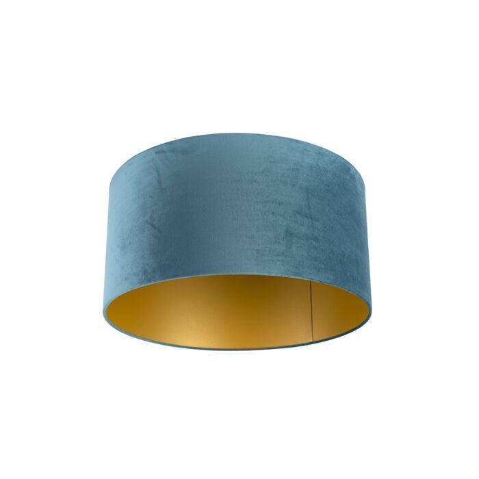 Pantalla-terciopelo-azul/oro-50/50/25