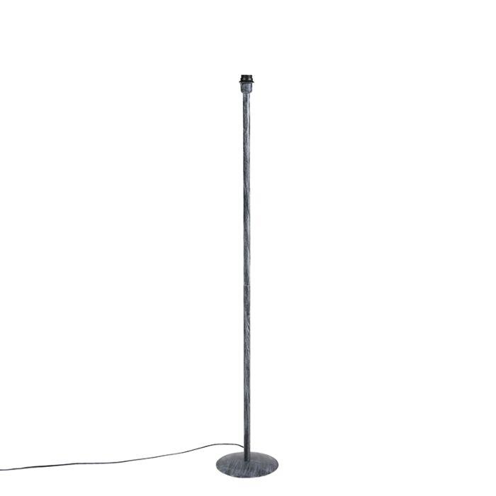 Lámpara-de-pie-vintage-gris-envejecido-sin-pantalla---SIMPLO