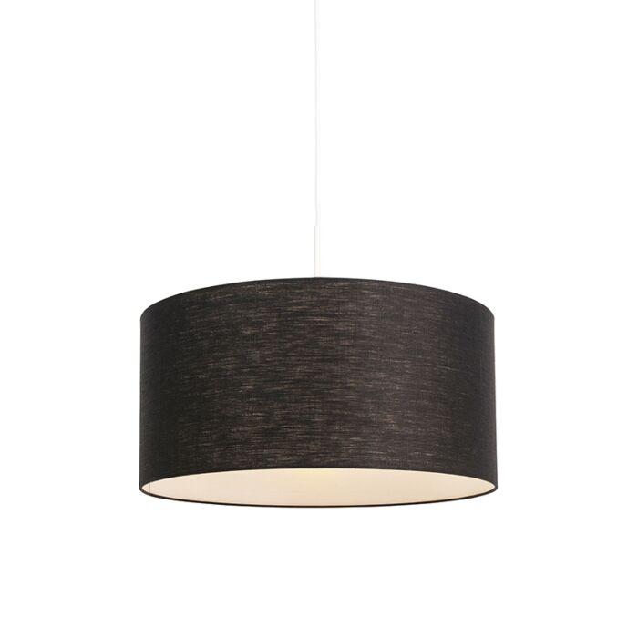 Lámpara-colgante-moderna-blanca-pantalla-negra-50cm---COMBI-1