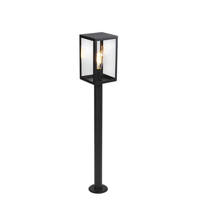 Baliza-moderna-negra-vidrio-100.5cm-IP44--ROTTERDAM
