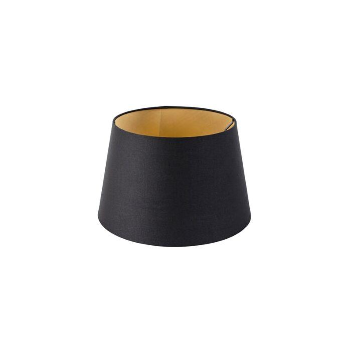 Pantalla-algodón-negro/oro-32/25/18-