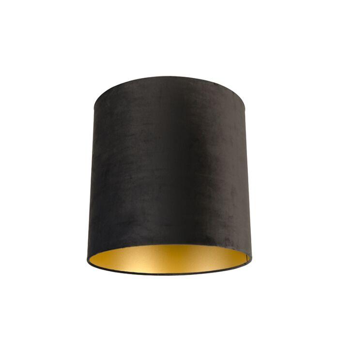 Pantalla-terciopelo-negro/oro-40/40/40-