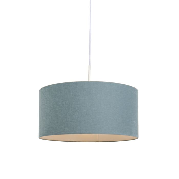 Lámpara-colgante-blanca-con-pantalla-azul-50-cm---Combi-1