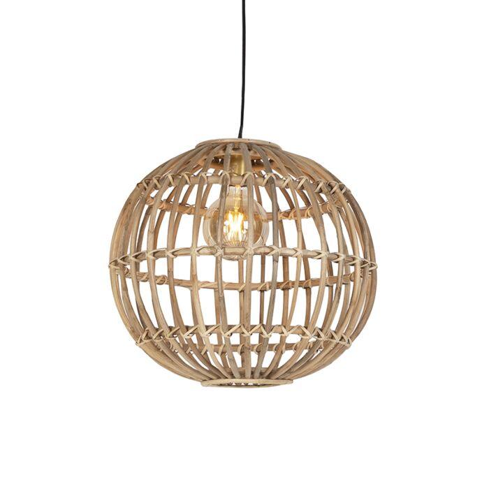 Lámpara-colgante-rústica-bambú-natural---CANE-BALL-50