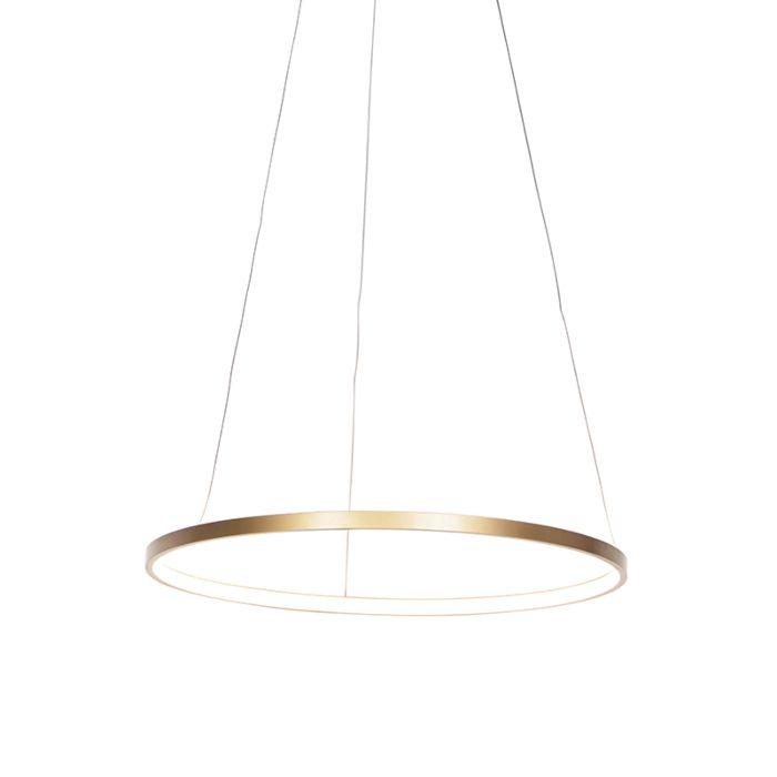 Lámpara-colgante-moderna-dorada-60cm-LED---ANELLA