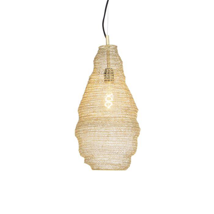 Lámpara-colgante-oriental-dorada---NIDUM-Rombo