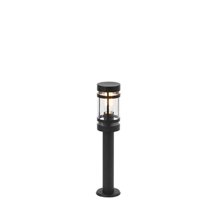 Baliza-moderna-negra-50cm-IP44---GLEAM