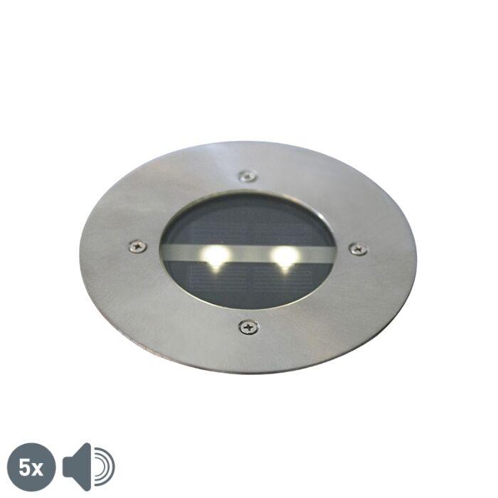 Set-5-focos-modernos-solares-acero-IP44---TINY