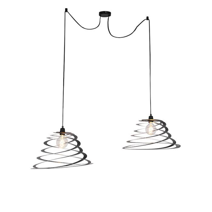 Lámpara-colgante-diseño-pantalla-espiral-50-cm-2-luces---SCROLL
