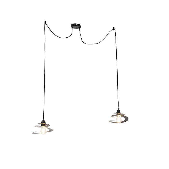 Lámpara-colgante-diseño-pantalla-espiral-20cm-2-luces---SCROLL