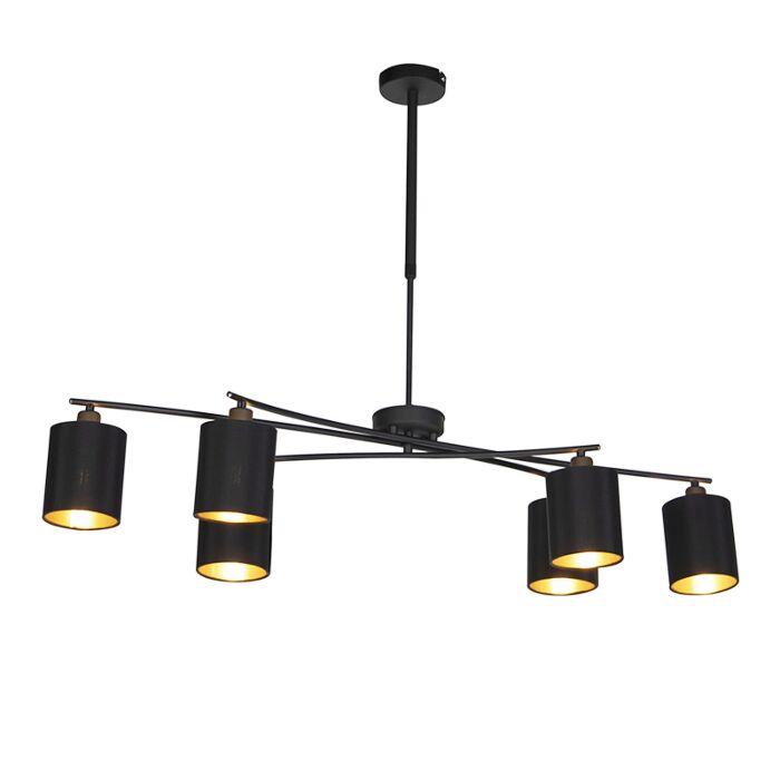 Lámpara-colgante-moderna-negra-ajustable-6-luces---LOFTY