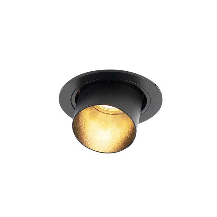 Foco-empotrado-redondo-moderno-orientable-negro---INSTALLA