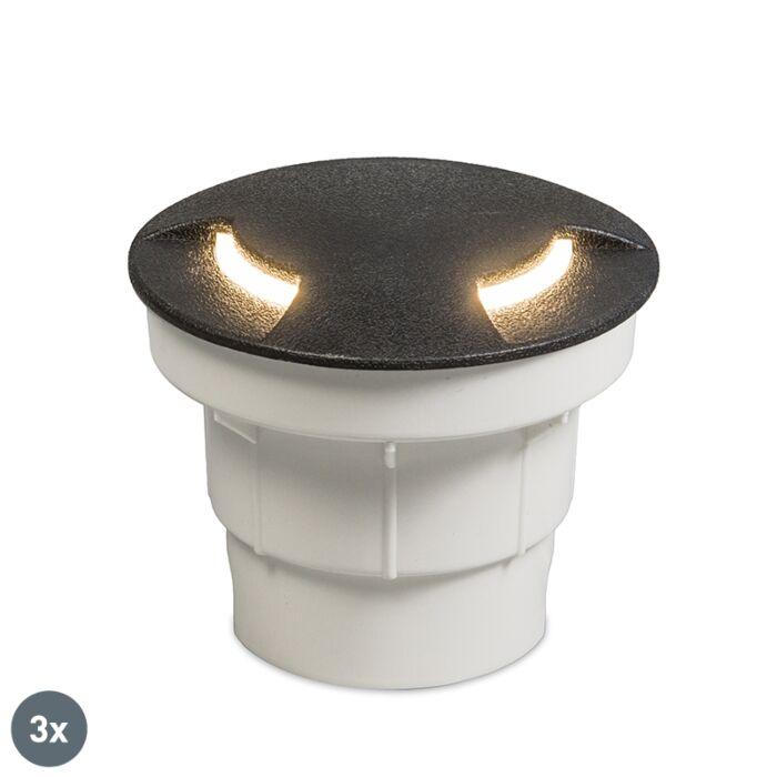 Set-3-focos-suelo-negro-LED-IP67---CECI-2