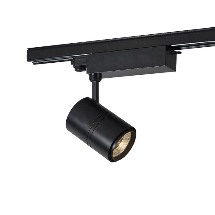 Foco-de-riel-trifásico-regulable-moderno-negro-LED-3000K---RULER-38