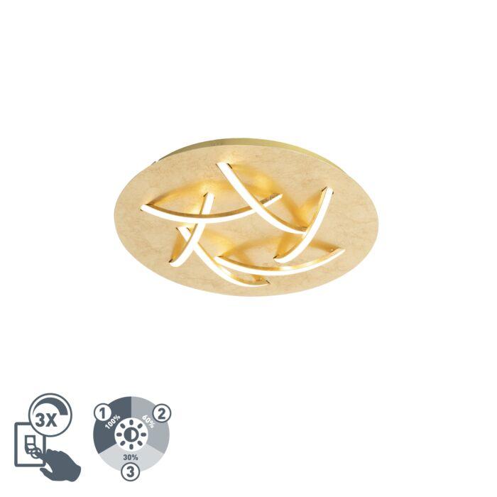 Plafón-Art-Deco-dorado-LED---DELPHINA