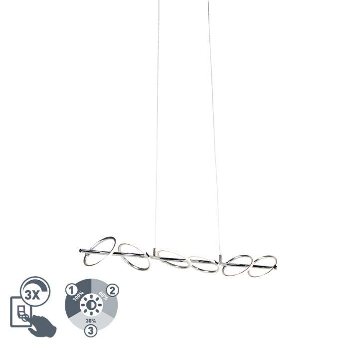 Lámpara-colgante-diseño-cromo-LED---OLYMPIA