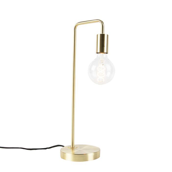 Lámpara-de-mesa-Art-Deco-latón---FACIL