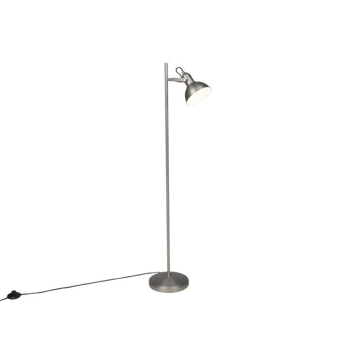 Lámpara-de-pie-industrial-acero-1-luz---TOMMY