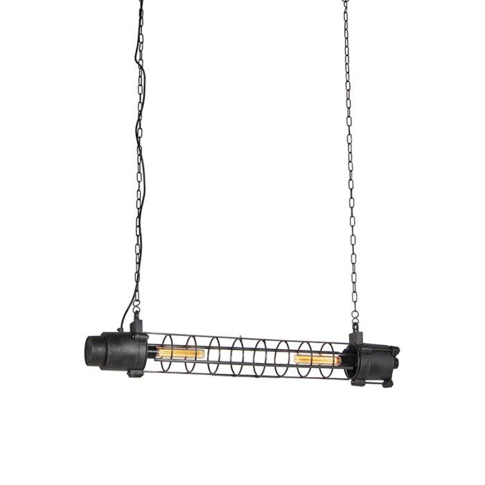 Lámpara-colgante-industrial-negro-envejecido---FUZE