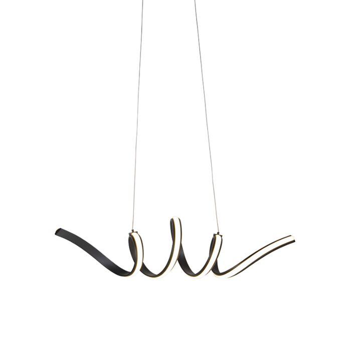 Lámpara-colgante-diseño-negra-regulable-LED-pequeña---TWISTED