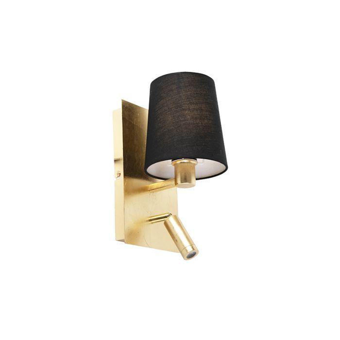 Aplique-diseño-dorado-pantalla-negra-LED---MERLOT