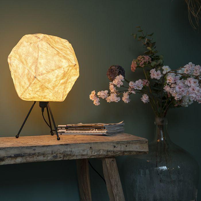 Lámpara-de-mesa-papel-escandinavo-blanca---PEPA-LUA