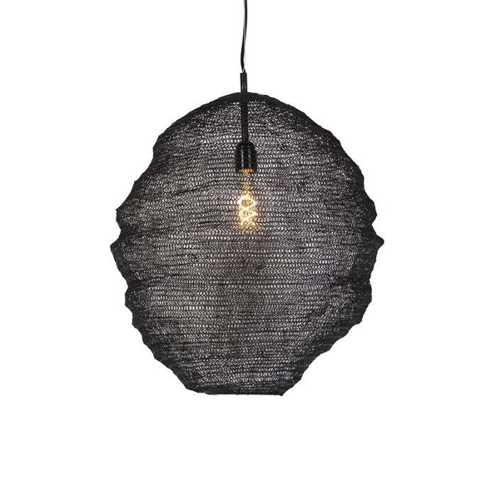 Lámpara-colgante-oriental-negra---NIDUM-Gran
