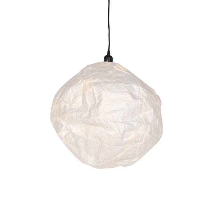 Lámpara-colgante-escandinava-papel-blanco---PEPA-BALL