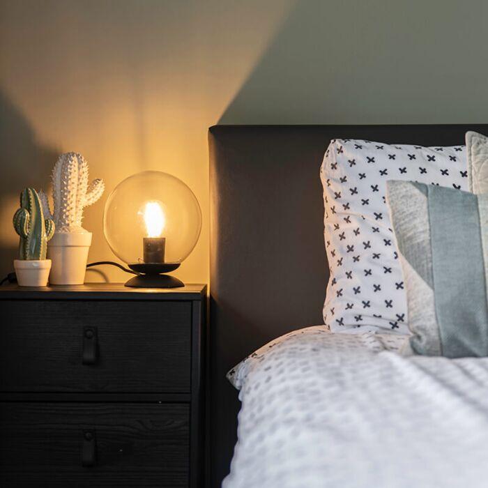 Lámpara-de-mesa-Art-Deco-negra---PALLON