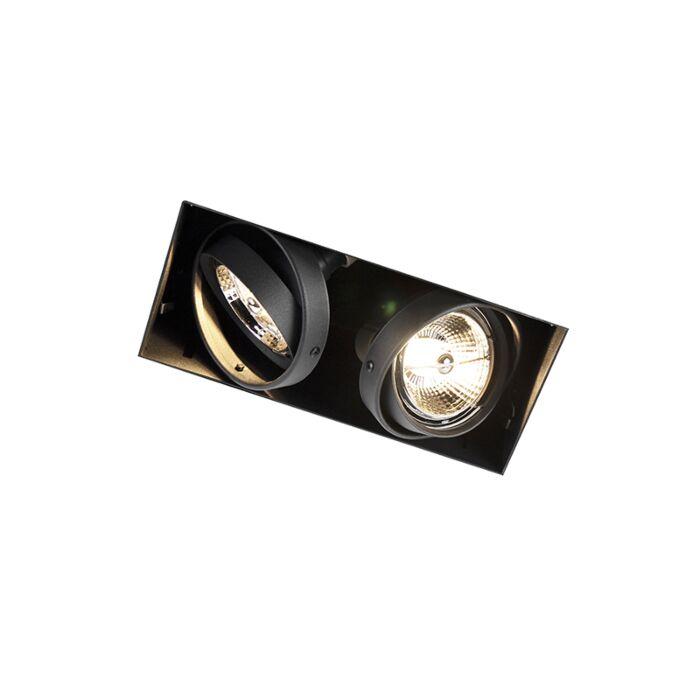 Foco-empotrado-negro-orientable-sin-marco-2-luces---ONEON-2-Trimless-AR70