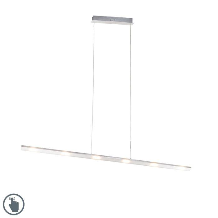 Lámpara-colgante-diseño-acero-regulador-táctil-LED---PLATINA