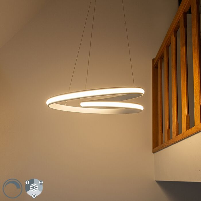 Lámpara-colgante-moderna-blanca-55cm-LED-regulable-3-pasos---ROWAN