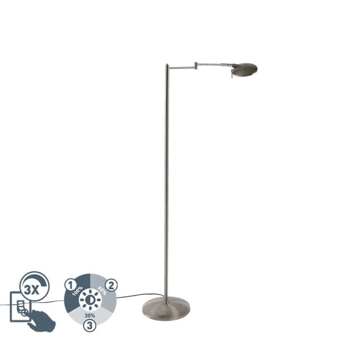 Lámpara-de-pie-moderna-acero-orientable-regulador-LED---KAZAM